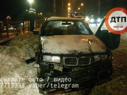 Напроспекте Победы вКиеве случилось пьяное ДТП спострадавшими